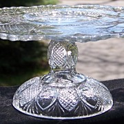 SOLD EAPG Daisy aka Sunk Daisy Pedestal Cake Stand by Cooperative Flint Glass ca. 1896