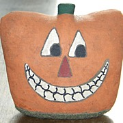 Vintage Weighted Stuffed Halloween Jack-O-Lantern JOL Pumpkin