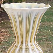 Vintage Fenton 3212 AO Autumn Gold Vase 9.25 inches