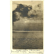 RPPC Manila Philippines 1904 Ships Postcard Antique Real Photo