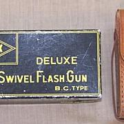 Alpex Deluxe Swivel Flash Gun Leather Case Original Box