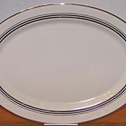 Large Syracuse China Old Ivory Nimbus Platinum Platter - 16 by 11 inches