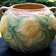 Roseville Sunflower Urn Flower Pot Vase  circa 1930 4 inch