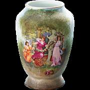 Royal Bayreuth Tapestry Scenic Cabinet Vase