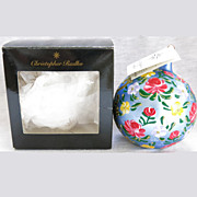 Christopher Radko Floral Suite Christmas Ornament Ball Original Box