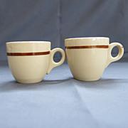2 Vintage Restaurant Ware Espresso Demitasse Cups