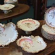 Fabulous 11 Piece Limoges Set - Heavy gold & Florals