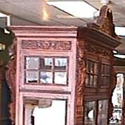 Huge Victorian Oak Display Cabinet - Carved to Death!!!