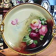 Limoges Cake Plate - Roses