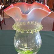 Victorian Vaseline Glass Epergne