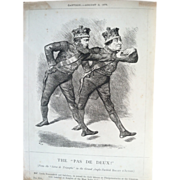 """Book: Cartoons from the Collection of """"Mr. Punch"""" 1855 to 1878, The Rt. Hon. W. E. Gladstone, John Bright, Benjamin Disraeli"""