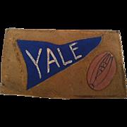 SOLD Yale University Football Leather Postcard Vintage - Red Tag Sale Item