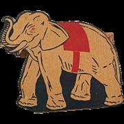 Rare Cardboard Circus Elephant Peanut or Treat Holder