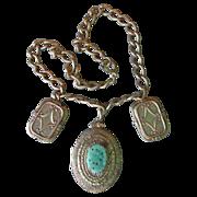 SALE DRASTIC REDUCTION Vintage Victorian Revival Peking Glass Gold Filled Locket & Charm ...