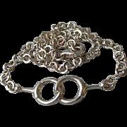 Vintage Interlocking Wedding Rings Chain Necklace