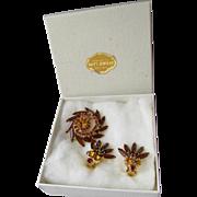 SALE Juliana D&E Pin & Earrings Demi Parure, MINT In Box