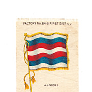 SALE 1875-1920 North Africa - Algeria National Flag - Vintage Early 1900's Sovereign Cigarette