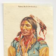 SOLD Native American Apache Chief Black Hawk Tobacco Premium – Geronimo's Tribe - Early 19