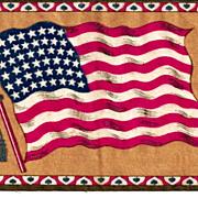 SALE c1910  USA 48-Star American National Flag  (1912-1959)  - Vintage Tobacco Advertising Pre