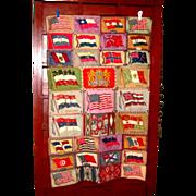 SALE 1911-1916 Tobacco Advertising Flannel Felt Vintage Blanket - Hand-Stitched - American Buf
