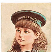 SALE 1883 Victorian Patent Medicine Rhode Island Advertising Trade Card - Doctor Hunt's Remedy