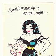 SOLD Vintage 1940s -1950s Little Abner Cartoon Character Get Well Greeting Card - Moonbeam ...