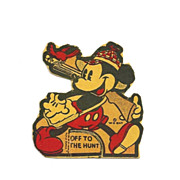 c1938 Mickey Mouse  Disney Cartoon Character - Vintage Small Stand-up Cardboard Cut-out - Walt Disney Enterprises Copyright - Small