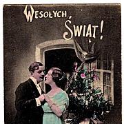1916 Polish Language Christmas Vintage Postcard - Krakow, Poland Publisher-Jersey City, New Je