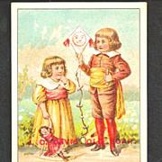 SALE 1880s J. C. Davis' Old Soap Victorian Advertising Trade Card – J.C. Davis & Sons, Bos