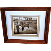 SALE c1920 Family Buggy Horse Vintage Photograph - Young Modern Woman Holding the Reins