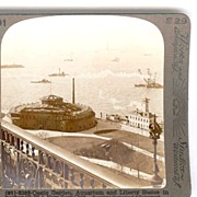 c1896-1920 Castle Garden New York City Stereo View - 19th Century United States Immigration Ce