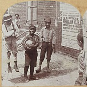 1892 Rare Victorian Interracial  African American and White Real Photo Stereoview - Camden New