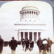 1899 New York City Riverside Park Vintage Real Photo Stereo View  - Ulysses S. Grant Tomb - Un