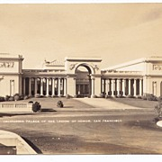 1930s San Francisco Vintage RPPC Real Photo Postcard - California Palace of the Legion of Hono