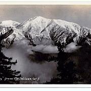 1930s Mount Baldy, California Real Photo Postcard – Mount San Antonio Taken from Mount Wilson - Unused
