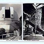 SALE 1930s Mount Wilson, California Real Photo Postcard – Mount Wilson Observatory – Hooke