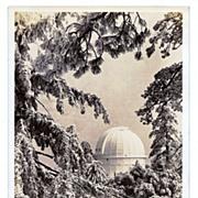 SALE 1930s Mount Wilson, California Real Photo Postcard – Winter Snow Scene of Mount Wilson