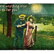 SALE PENDING 1916 Romantic Courting Couple's Moonlight Walk Vintage Postcard - Samson Brothers