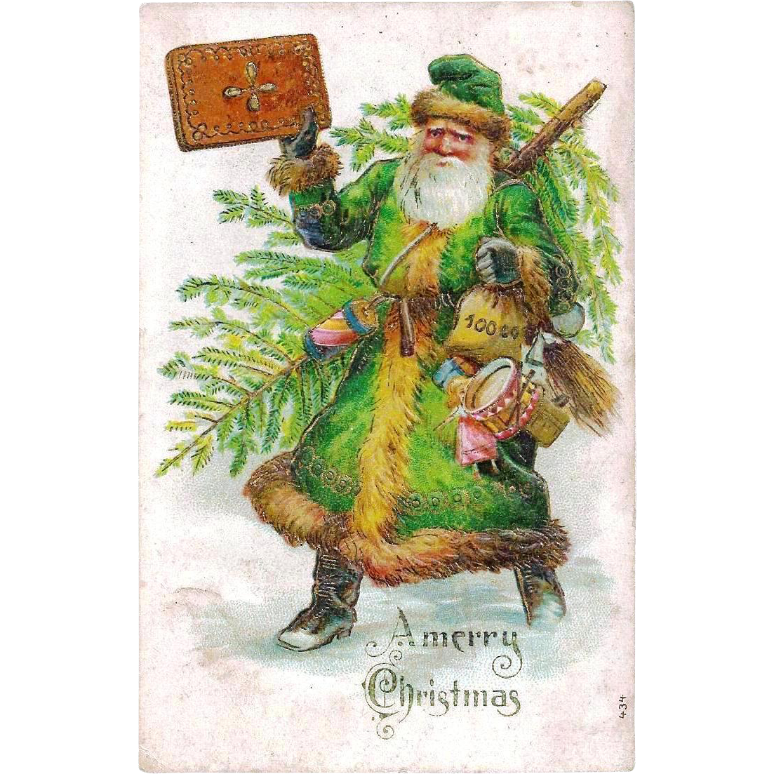 Late Victorian Christmas Father Christmas Santa Claus