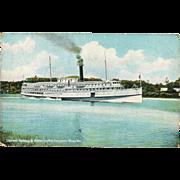 "c1908 Kennebec River MAINE New England Yankee Coastal Steamship ""SS Ransom B. Fuller"""