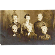 SALE c1910 Women's Group Photograph Studio Portrait RPPC Real Photo Postcard - Early 20th Ce