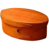 """Shaker Society Village Community Vintage 19th Century Antique Two-Finger Box and Cover - 6"""" Maple and Cherry - Mount Lebanon, New York or Hancock, Massachusetts"""