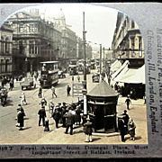 SALE c1920 Belfast Northern Ireland Stereo-view – Royal Avenue – Donegal Place – Double-