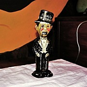 c1940 Charlie McCarthy Wind-up Walker Tin Lithograph Marx Toy - Ventriloquist Edgar Bergen Radio Show Character - Louis Marx & Co.