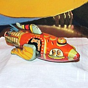 Authentic 1927 Buck Rogers Spaceship Tin Wind-UP Toy - Early Science Fiction Character - Louis