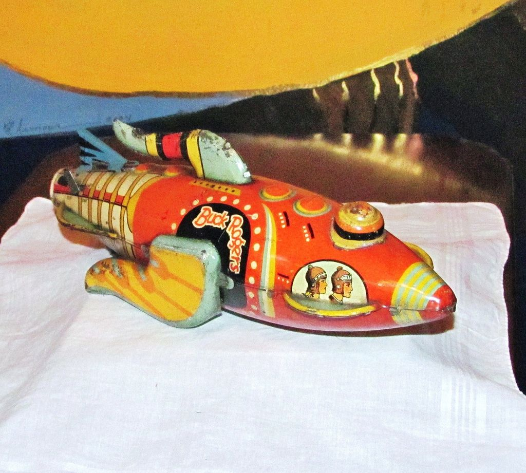 Authentic 1927 Buck Rogers Spaceship Tin Wind-UP Toy - Early Science Fiction Character - Louis Marx & Co.