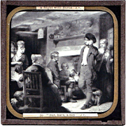 "SALE c1900 English Magic Lantern Slide - Robert Burns Poem ""The Cotter's Saturday Night"""