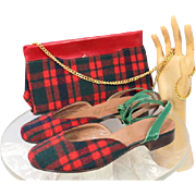 Vintage 1950 Joseph La Rose Ted Saval Yippy Skippy Shoe & Purse