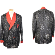 Vintage 1930s Anthony Biddle Asian-Inspired Charvet Smoking Jacket