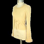 Vintage 70s Sonia Rykiel Henri Bendel Cream Wool Sweater XS